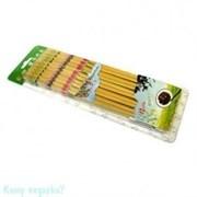 Палочки для еды, 10 пар, цветные, l=29 см