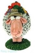 Фигурка декоративная «Овечка в шляпе», 9x7x10 см