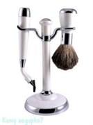 Набор для бритья, 2 предм., белый