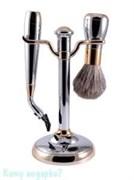 Набор для бритья, 2 предм., хром, золото
