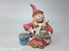 Подсвечник декоративный «Гномик-сладкоежка»