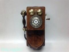 Ретро телефон настенный, кнопочный, 43x26x10 см