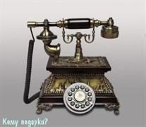 Ретро-телефон, дерево, полистоун