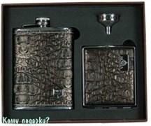 Подарочный набор VIRON, коричневый кроко