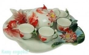 Подарочный набор для чайной церемонии «Золотая рыбка»