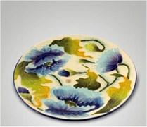 Тарелка декоративная «Голубые маки», d=20 см