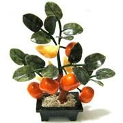Дерево из 5 мандаринов и слитков, h=22 см