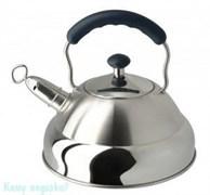 Чайник с комбинированной ручкой и свистком, Regent Inox, 93-2505B