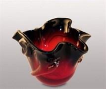 Стеклянная ваза, h=15 см