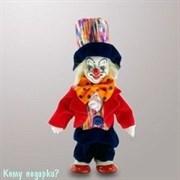Фигурка «Клоун в цилиндре», h=14 см