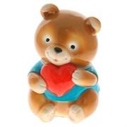 Копилка Медвежонок с сердечком 9х8х17см