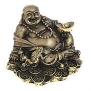 Фигурка декоративная Хотей сусальное золото L17W15H17см