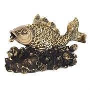 Фигурка декоративная Золотая рыбка цвет: сусальное золото L20W9H12см
