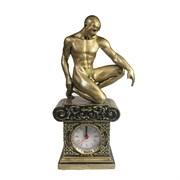 Часы настольные Атлет цвет: сусальное золото L11.5W7.5H26.5 см