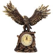 Часы настольные Орел расправил крылья цвет: сусальное золото Н35 см