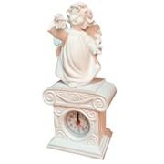 Часы настольные Ангел с фонариком цвет: белый Н25 см