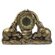 Часы настольные Два слона цвет: золото L30W7H20 см
