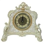 Часы настольные цвет: слоновая кость-золото L21W6.5H19 см