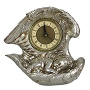 Часы настольные Ангел цвет: серебро L20W10H18 см