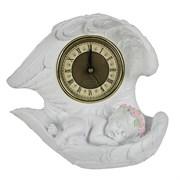 Часы настольные Ангел цвет: белый L20W10H18 см