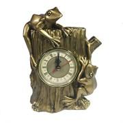 Часы настольные Две лягушки цвет: золото L9W15H21 см