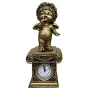 Часы настольные Ангел цвет: сусальное золото Н25.5 см