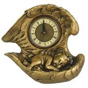 Часы настольные Ангел цвет: золото L20W10H18 см