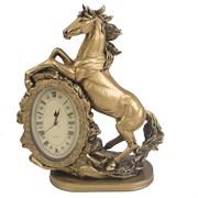 Часы настольные Лошадь цвет: золото L31W15H40 см