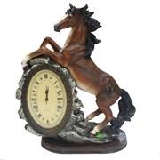 Часы настольные Лошадь цвет: акрил L31W15H40 см