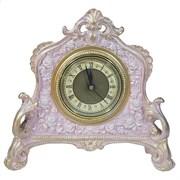 Часы настольные цвет: розовый с золотом L21W6.5H19 см