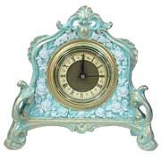 Часы настольные цвет: бирюзовый L21W6.5H19 см