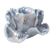 Подсвечник Тюльпан цвет: серебро L11W11H7 см