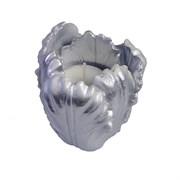 Подсвечник Тюльпан цвет: серебро L8W8H8 см