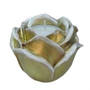Подсвечник Роза цвет: золото L9W9H7 см