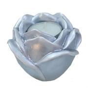 Подсвечник Роза цвет: серебро L9W9H7 см