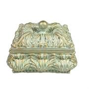 Шкатулка для украшений цвет: бирюзовый L14.5W14.5H9.5 см