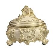 Шкатулка для украшений цвет: слоновая кость золото L16W13H14 см