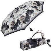 Зонт полный автомат Розы черно-белые