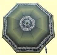 Зонт полный автомат цвет: Зеленая с каймой