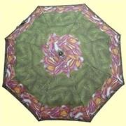 Зонт полный автомат Aбстракция зелено-розовая