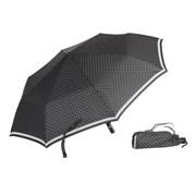 Зонт полный автомат Белые горохи на черном