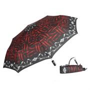 Зонт полный автомат Aбстракция Красно-черная