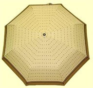 Зонт полный автомат Gucci цвет: бежевый с коричневым кантом