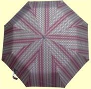 Зонт полный автомат Клетка мелкая разноцветная