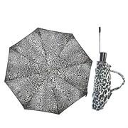 Зонт полный автомат Атласный Леопард цвет: черно-белый