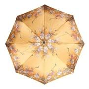 Зонт полный автомат Атласный Цветы на золотом фоне