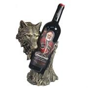 Подставка под бутылку Волк цвет: бронза L14W17H26 см