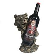Подставка под бутылку Медведь цвет: бронза L14W18H26 см