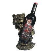 Подставка под бутылку Медведь цвет: золото L14W18H26 см