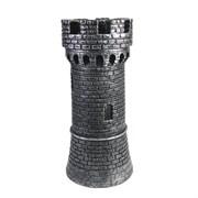 Подставка под бутылку Башня цвет: серебро L15W15H32 см